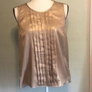 Dana Buchman sleeveless gold blouse